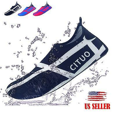 Soft Water Shoes Aqua Socks Sport Running Pool Beach Dance Swim Slip On Surf HOT