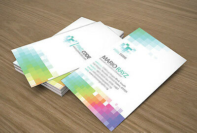 500pcs custom printed full color laminated paper business cards ads BCD1