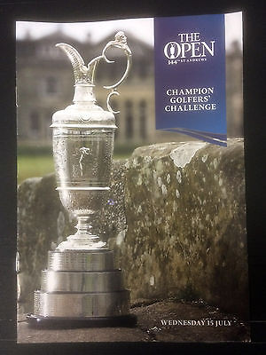 2015 British Open - St Andrews - Draw Sheet For Past Golf Champions Challenge