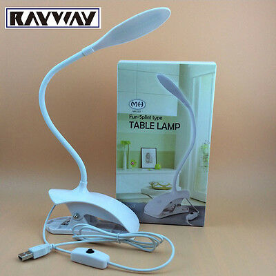 Portable Reading Light Children Eye Protection USB LED Desk Table Lamp With Clip