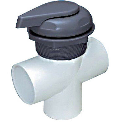 """plastic and stainless steel 2 """"hot ub water selector spa diverter"""