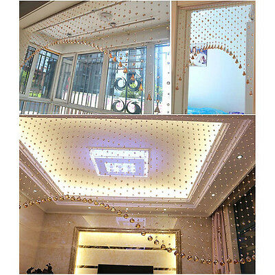 Luxury Glass Crystal Bead Curtain Home Living Room Bedroom Wedding Decor 1m