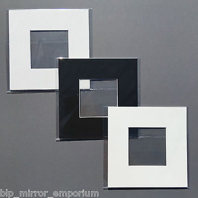 8x8in picture/photo mounts with 4x4in aperture - SOLD SINGULARLY - bagged