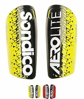 SALDI Sondico Aerolite Shinguards Black/Yellow