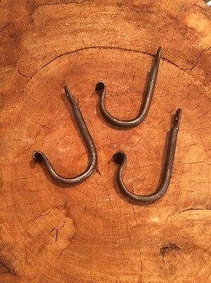 Forged - Handmade Metal Fish tail hooks - 3pc