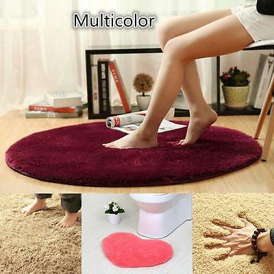 Soft Memory Foam Absorbent Non-slip Bathroom Floor Mats Rug Fluffy Round Carpet