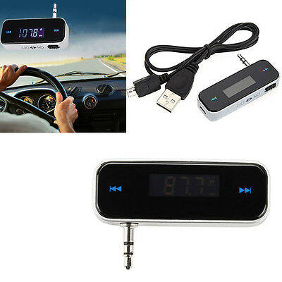 Car Kit Wireless Bluetooth FM Transmitter Player USB SD LCD Remote Handsfree FS