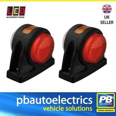 Pair of LED 1005RWM Rubber End Outline Side Marker Lamps Red White Amber 12/24V