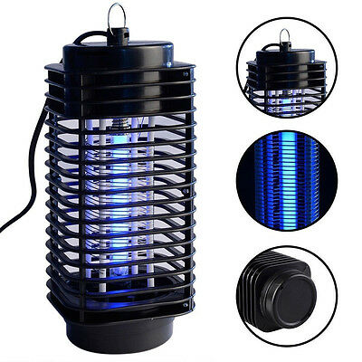 Electric Mosquito Fly Bug Insect Zapper Killer With Trap Lamp 220-240V Black New