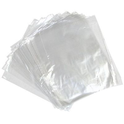 "+CLEARANCE+ 200x 18x24"" POLYTHENE BAGS CLEAR PLASTIC BAGS 400 GAUGE HEAVY DUTY"