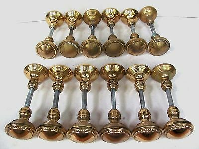 ONE Pair of High Quality Repro. Solid Brass Antique Door Knobs (13 Available)