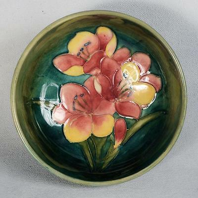 "Signed Moorcroft Bowl/dish - Freesia Approx. 5-3/8"" Dia. X 2-1/2"""