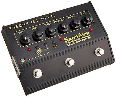 Tech 21 PBDR SansAmp Programmable Bass Driver DI NEW! FREE 2-DAY DELIVERY!!