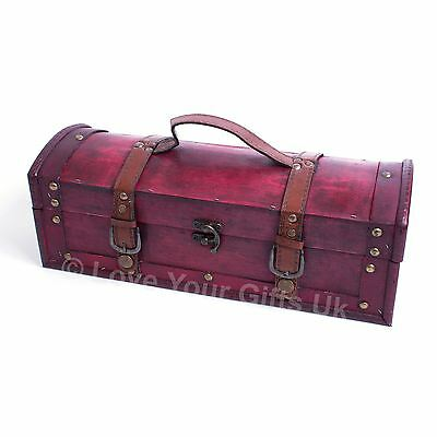 Long Treasure Chest Trinket Wooden Box 35 cm For Whisky Wine Wands Tarot Cards