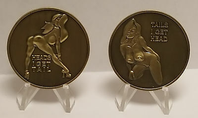Head and tails 3D coin