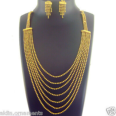 Indian Traditional Jewelry Ethnic Necklace Bollywood Bridal Gold New Fashion Set