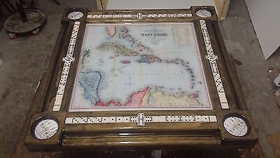 Puerto Rico Map Dominoe Table by Domino Tables by Art