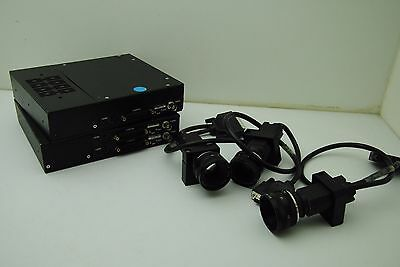 CCTV Camera w/ D.O. Industries Navitron 25mm Lens & Controller - Lot of 3