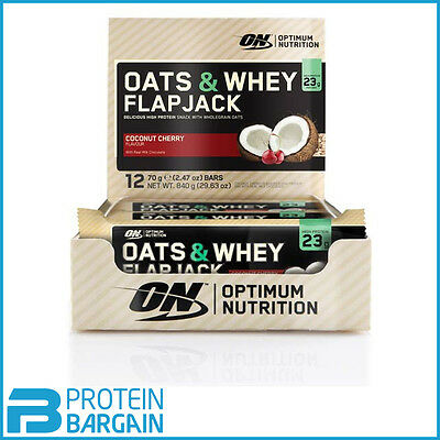 Optimum Nutrition Oats & Whey Flapjack 12x 70g ALL FLAVOURS!! EXP AUG2016