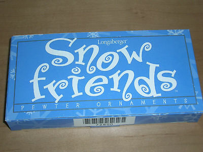 Longaberger Pewter 1999 Snow Friends Ornament Set