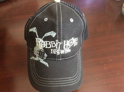 RABBIT HOLE BREWING Beer CAP HAT MESH Distressed JUSTIN TEXAS