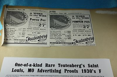 One-of-a-kind Rare Saint Louis, MO Bakery Advertising Proofs 1930's F