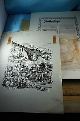 Rare Saint Louis, MO Bakery Advertising Archive Sketch Drawing 1960's