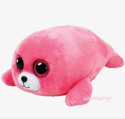 Genuine TY Beanie Boo's PIERRE Pink Sea Seal ~ 2016 JULY NEW with Tag HOT