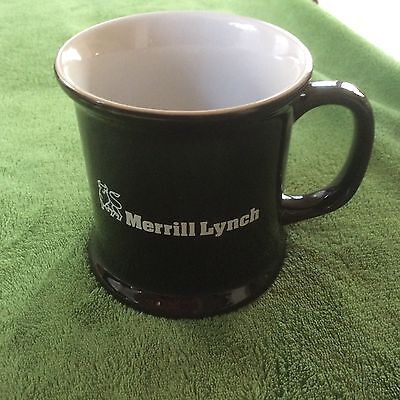 Merrill Lynch Bull Large Coffee Mug Cup Investment Banking