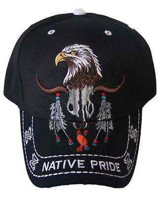 CAPNP364^* Wolf /& Feathers .......Native Pride Embroidered Baseball Camo Caps