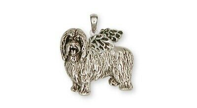 Bearded Collie Angel Pendant Handmade Sterling Silver Dog Jewelry BCL1-AP