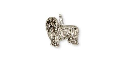 Bearded Collie Charm Handmade Sterling Silver Dog Jewelry BCL1-C