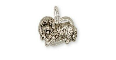 Bearded Collie Charm Handmade Sterling Silver Dog Jewelry BCL2-C