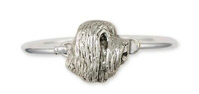 Bearded Collie Bracelet Handmade Sterling Silver Dog Jewelry BCL4-HB