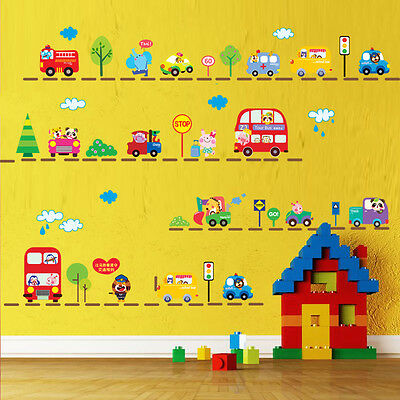 Traffic Car Kids Room Wall Stickers Decals Home Decor Art Removable Vinyl Murals