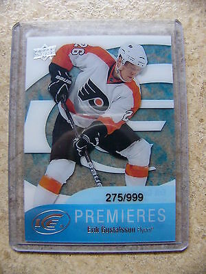 11-12 UD Black Diamond Ice Premieres Rookie RC #64 ERIK GUSTAFSSON /999