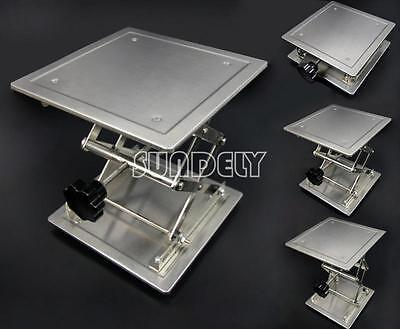 """Brand New High Quality Lab jack lift support adjustable stainless 8"""" × 8"""""""