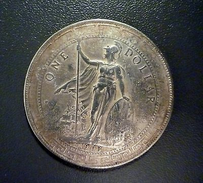 1903 Great Britain UK TRADE DOLLAR in China $1 Silver Coin XF