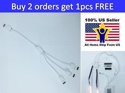 5Pin Splitter 1 to 3 Connector Female Cable Male Adapter For 12mm LED RGBW Strip