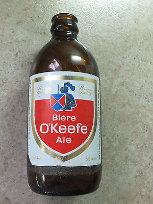 Beer Bottle Stubby Style Brown 341 ml O'KEEFE Bière Ale