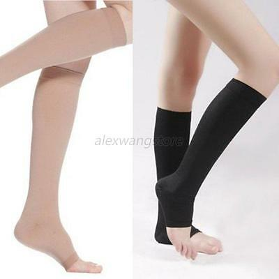 Women's Knee High Compression Socks Unisex Open Toe Sports Support Stockings