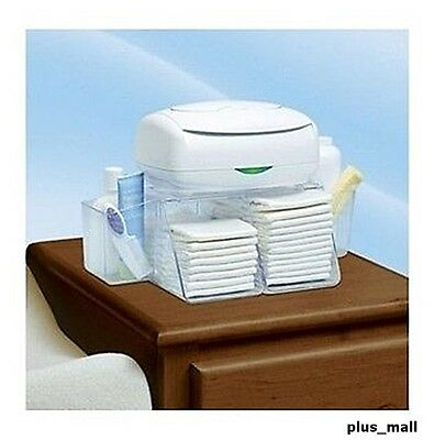 Dresser Top Diaper Wipes Organizer Bins Baby Changing Station Depot Diapering