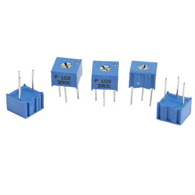 5 Pcs 3362P 1K Ohm Square Trim Pot Trimmer Potentiometer WS
