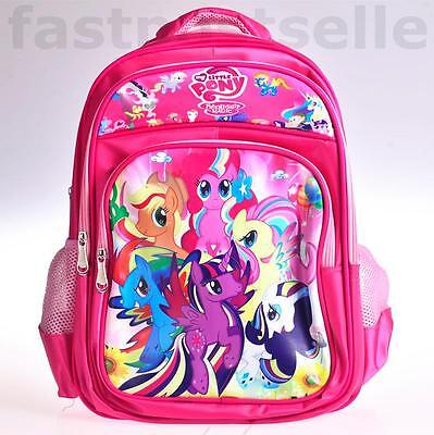"16"" My Little Pony Quality Girls Kids  Large School Backpack Bag"