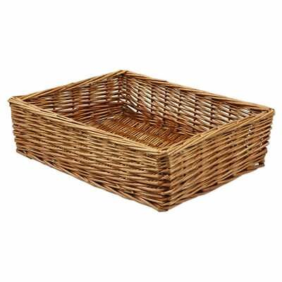 Padstow Wicker Willow Storage Tray Hamper Basket Bread Fruit Gift Large Small