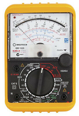 CLASSIC ANALOGUE MOVEMENT MULTIMETER DIGITECH with LEADS HOLSTER BATTERIES INC