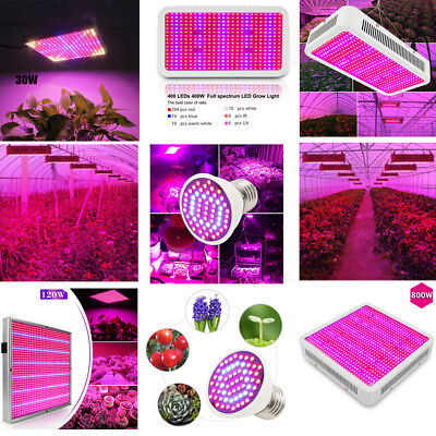 Full Spectrum LED Grow Light Lamp for vegetable  Plants Veg  Bloom Indoor Plant
