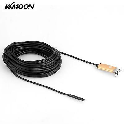 New 8mm 10m 2 in 1 USB Endoscope Borescope Inspection Camera for Android PC L3V8