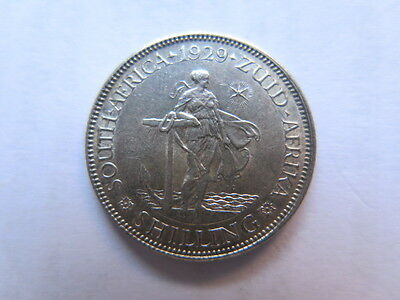 1929 SOUTH AFRICA 1 SHILLING SILVER COIN NICE EF CONDITION with STRONG 8 PEARLS