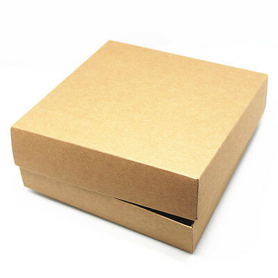 Kraft Paper Boxes With Cover Party Wedding Birthday Gifts Crafts Packaging Boxes